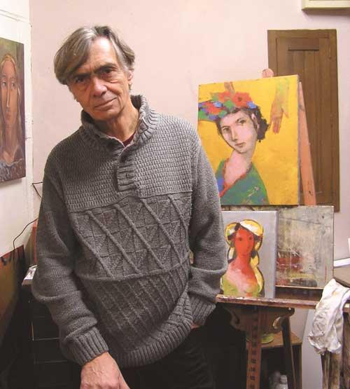 Charles Pasino dans son atelier